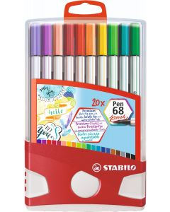 STABILO Pen 68 brush ColorParade da 20 colori ass.